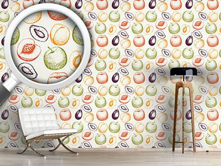 Pattern Wallpaper Fresh Fruits