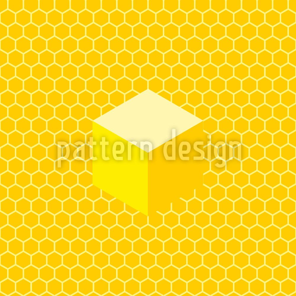 Papier peint design Honeycomb