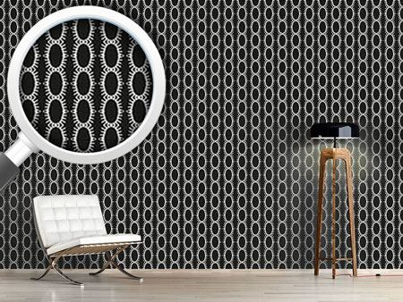 Pattern Wallpaper Chained Ovals