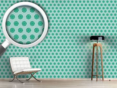 Pattern Wallpaper Bonbons Blue