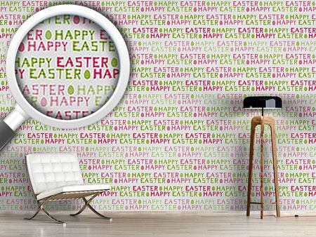 Pattern Wallpaper Happy Easter Eggs
