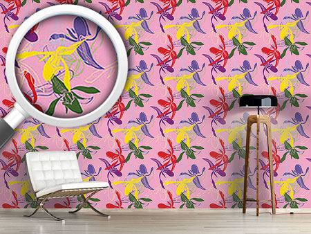 Pattern Wallpaper Orchid Color