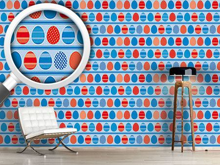 Pattern Wallpaper Blue Easteregg Stripes