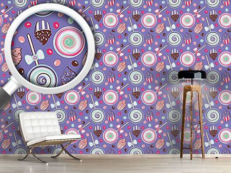 Pattern Wallpaper Cookidoo Purple