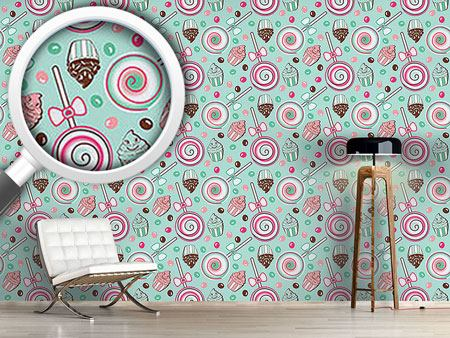 Pattern Wallpaper Cookidoo Mint
