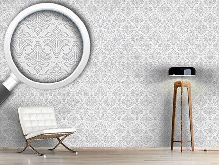 Pattern Wallpaper Damask Opulence