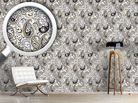 Pattern Wallpaper Paisley Ocean