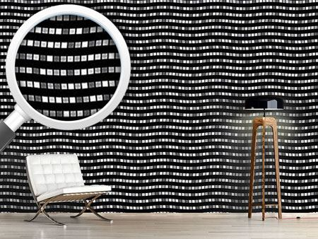 Pattern Wallpaper City Whisper In Black