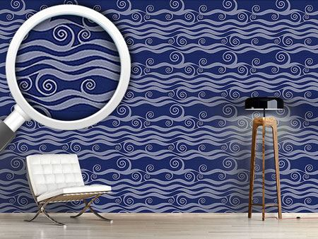 Pattern Wallpaper Waves And Twirls