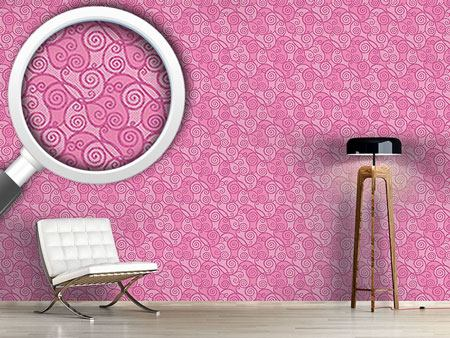 Pattern Wallpaper Curly Sue