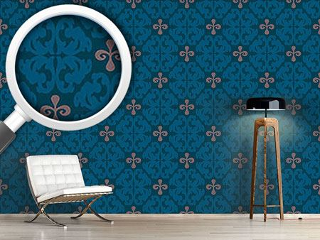 Pattern Wallpaper Paparock Blue
