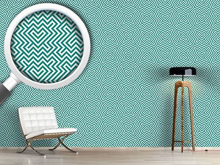 Pattern Wallpaper In The Center Mint