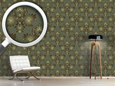 Pattern Wallpaper Modern Brocade Design