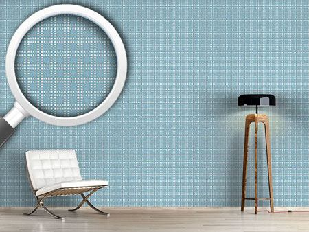 Pattern Wallpaper Powder Blue