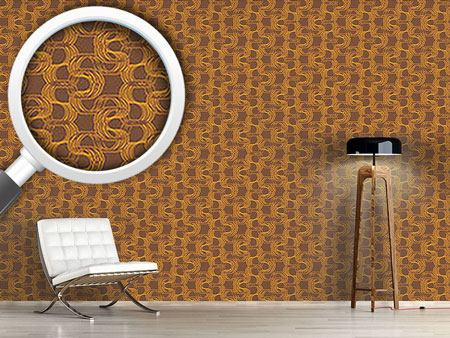 Pattern Wallpaper New Wave Brown