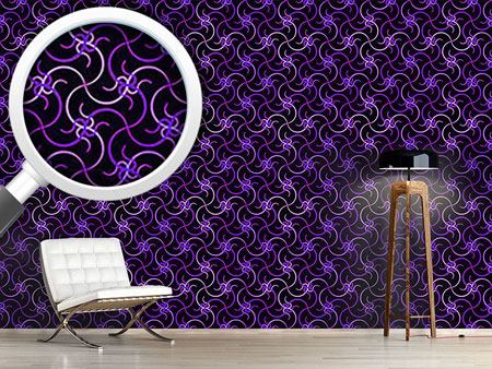 Pattern Wallpaper Ultraviolet Waves