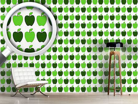 Pattern Wallpaper Granny Smiths Apples