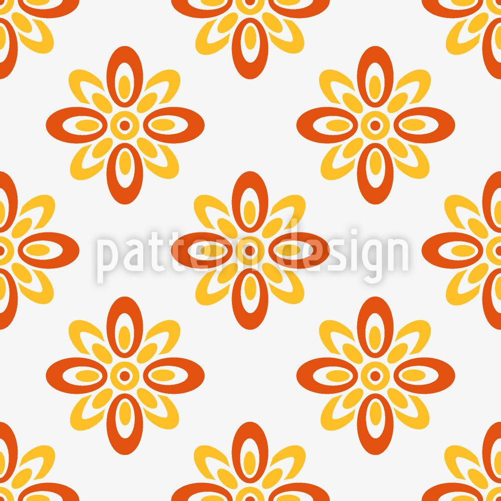 Pattern Wallpaper Sun Flowers