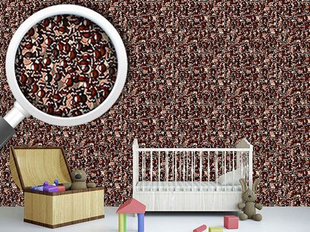 Pattern Wallpaper Chocolate Balls