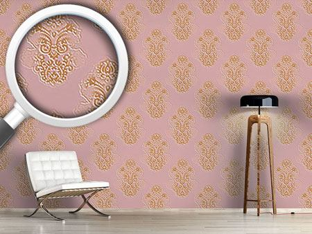 Pattern Wallpaper Silhouette Baroque
