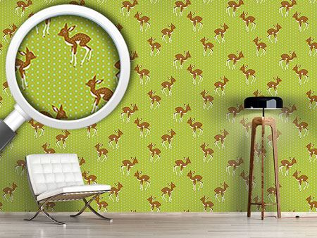 Papier peint design Little Polka Fawn