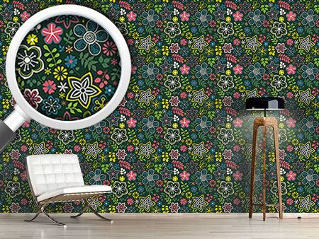 Pattern Wallpaper Floral Fantasy Mix