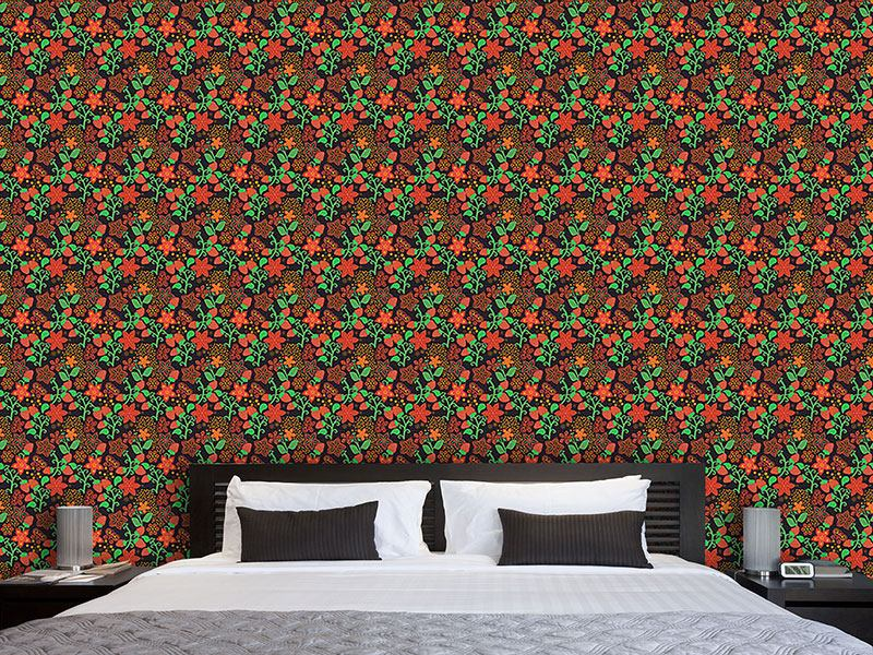 Pattern Wallpaper The Night Of The Wild Strawberries