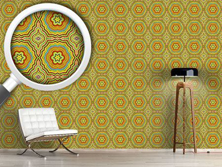 Pattern Wallpaper Autumn Kaleidoscope
