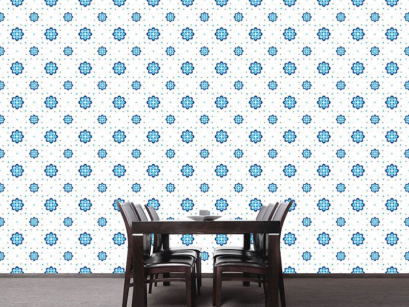 Pattern Wallpaper Cornflowers