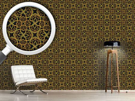 Pattern Wallpaper Floral Gold Jewellery