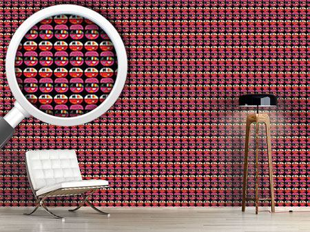 Pattern Wallpaper Ethno Burger