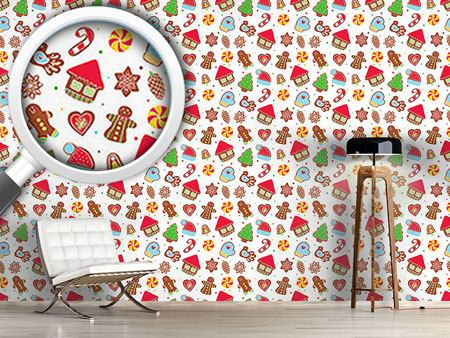 Pattern Wallpaper Cookie Jar