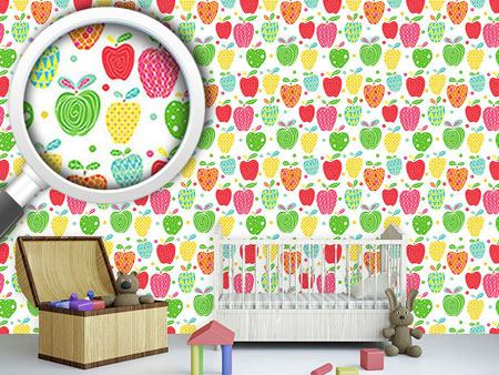 Pattern Wallpaper Apple Art