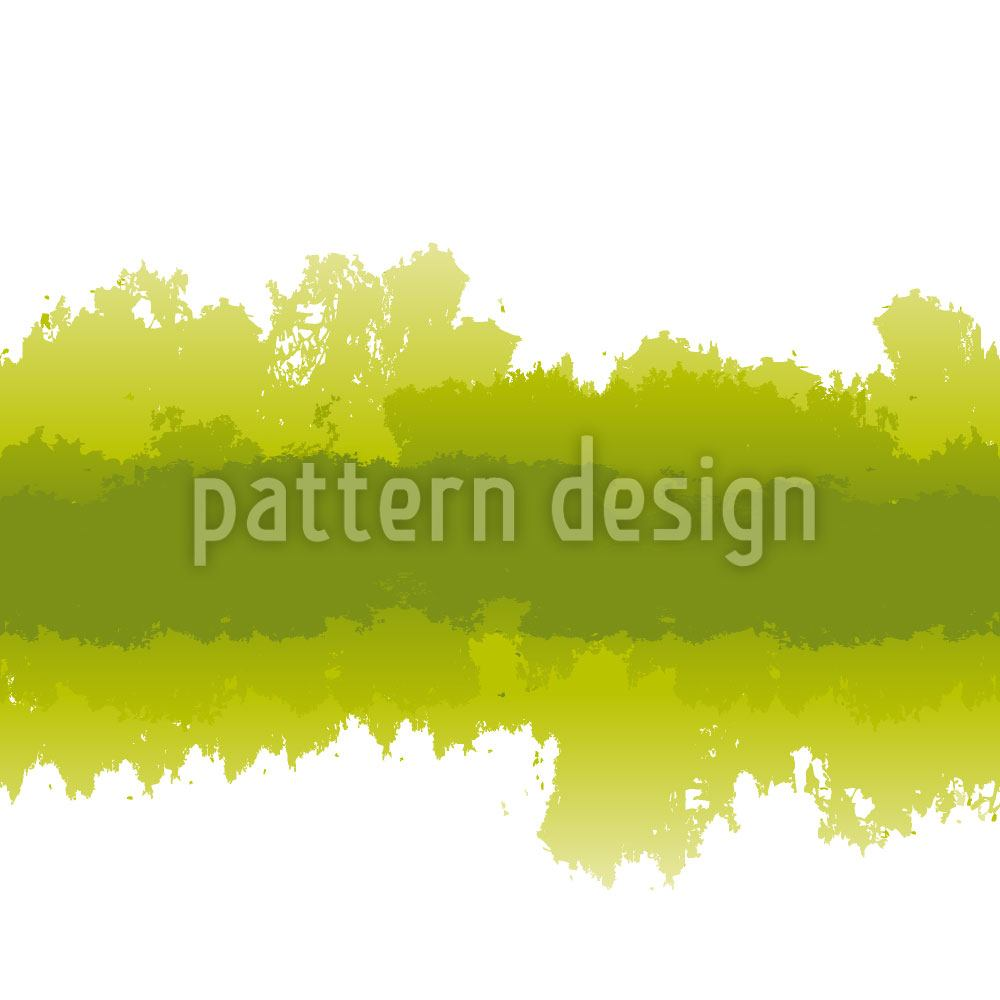 Papier peint design Batik In Green