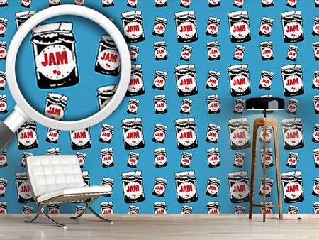 Pattern Wallpaper Take The Cherry Jam Jar