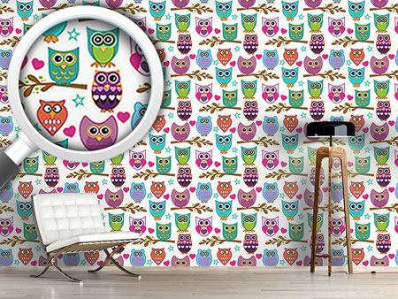 Pattern Wallpaper The Big Owl Assembly