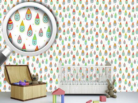 Pattern Wallpaper Cute Drop Dwarfs
