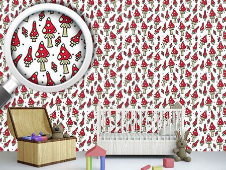 Pattern Wallpaper Fly Agarics