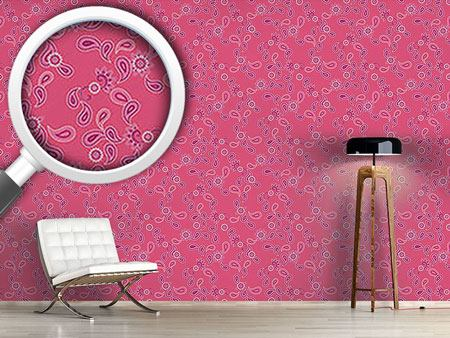 Pattern Wallpaper Paisley In Pink