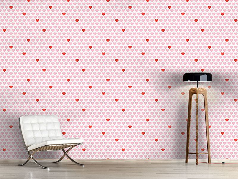 Pattern Wallpaper My Valentine Heart