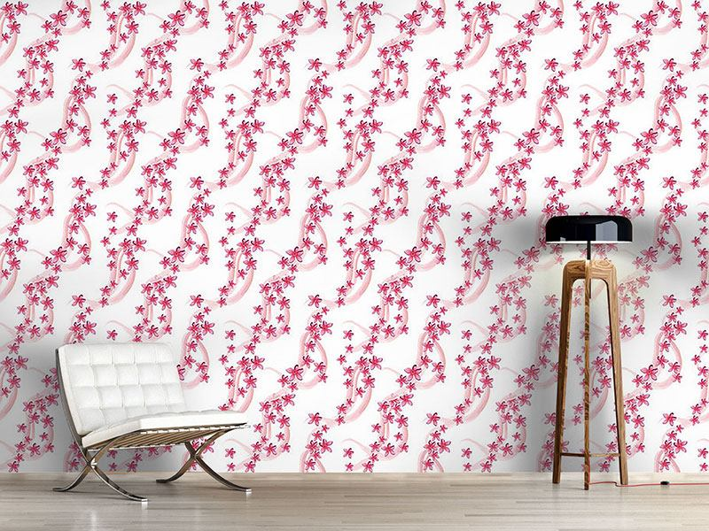 Pattern Wallpaper Frangipani Blossoms