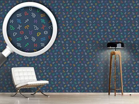 Pattern Wallpaper Zodiac Signs Mix