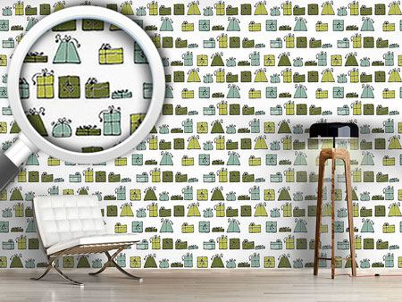 Pattern Wallpaper Wishing Punch Green