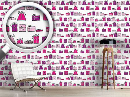 Pattern Wallpaper Wishing Punch Pink