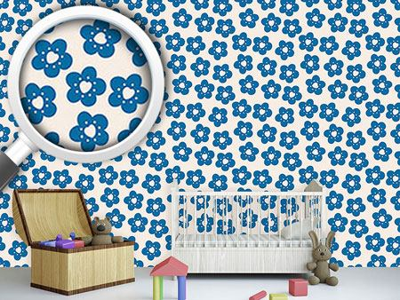 Pattern Wallpaper Little Flowers Have A Heart