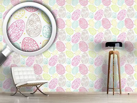 Pattern Wallpaper Delicate Easter Eggs