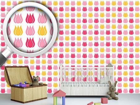 Pattern Wallpaper Total Tulip