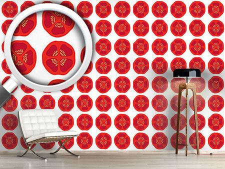 Pattern Wallpaper Yenty Tomato