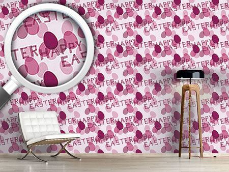 Pattern Wallpaper Happy Easter Lavender
