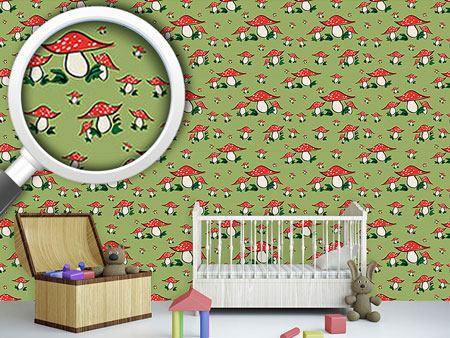 Pattern Wallpaper Fly Agaric